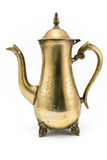 antik silverteapot Arkivfoto