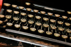 Antik skrivmaskin Royaltyfria Foton