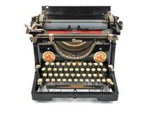 Antik skrivmaskin, isolerat objekt, isolerad antik skrivmaskin arkivfoton