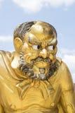 Antik staty av en kinesisk munk Antique Royaltyfri Foto