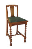 antik stol isolerat trä Royaltyfri Fotografi