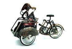 """Antik taxi """"för †för Rickshaw för TukTuk modell†thailändsk traditionell """" Royaltyfri Fotografi"""