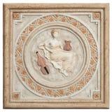 antik tegelstendeco Royaltyfri Fotografi