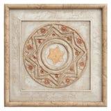 antik tegelstendeco Arkivfoton