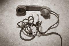 antik telefon Royaltyfria Foton