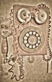 Antik telefon Royaltyfria Bilder