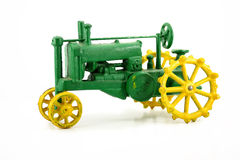 antik toytraktor Royaltyfri Fotografi
