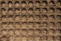 Antik träbakgrund - kyrklig dörr Royaltyfria Bilder