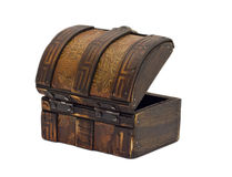 Antik träbröstkorg royaltyfri foto