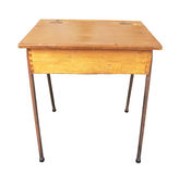 antik träskrivbordskola Arkivbild