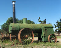 antik traktor Royaltyfria Bilder
