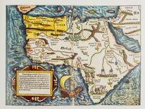 Antik tysk översikt av Afrika Royaltyfri Foto