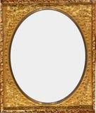 Antik utsmyckad guldram Arkivfoton