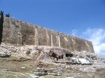 antik vägg Arkivbild