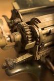 antik vagnsdetaljskrivmaskin royaltyfri bild