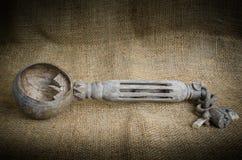 Antik wood skopa Arkivbilder