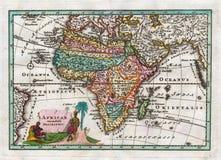 1730 antika översikt av Afrika av Weigel Royaltyfri Foto