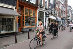 Antika Amsterdam shoppar Royaltyfri Fotografi