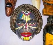 Antika arbeten för traditionell konst i det Goa museet Royaltyfri Bild