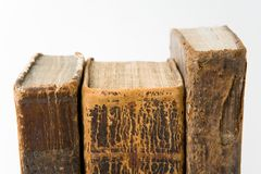 antika böcker Fotografering för Bildbyråer