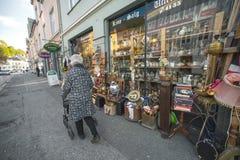 Antika Bergen shoppar Royaltyfria Bilder