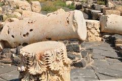 antika brutna kolonner Royaltyfria Bilder