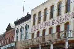 Antika byggnader i Virginia City Nevada royaltyfri fotografi
