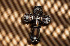 Antika Christian Cross. Royaltyfria Foton