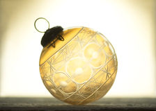 Antika Crystal Christmas Ornament Arkivfoton