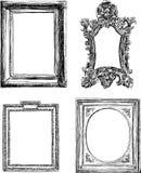 Antika dekorativa ramar Royaltyfria Bilder