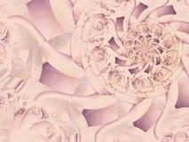 antika dekorativa snör åt papper royaltyfri illustrationer