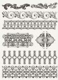 Antika designbeståndsdelar och sidagarnering Arkivbilder
