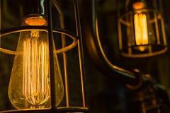 Antika Edison Light Bulbs Royaltyfria Foton