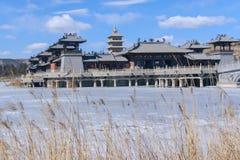 Antika efterföljdbyggnader för kinesisk stil Arkivbild