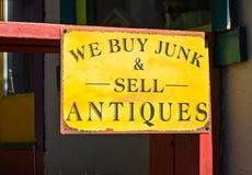 Antika försäljningar Arkivfoto