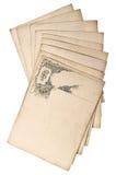 Antika grungy pappersark med utsmyckad virvel Fotografering för Bildbyråer