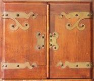 Antika kabineda dörrar Royaltyfri Bild