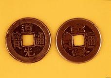 antika kinesiska mynt Fotografering för Bildbyråer