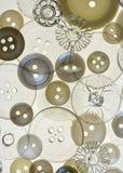 antika knappar Fotografering för Bildbyråer