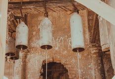 Antika kyrkliga klockor Arkivbild