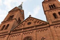 Antika kyrkliga torn Arkivbild