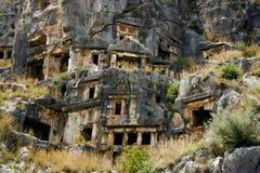 Antika Myra i Turkiet Arkivbilder