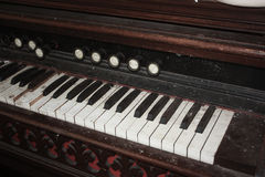 Antika pianotangenter Arkivbilder