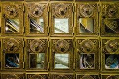 Antika postboxes, lantliga Vermont Arkivbild