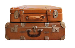 antika resväskor Arkivbilder
