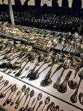 antika silverskedar Royaltyfria Bilder