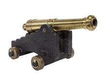 Antika Toy Cannon Isolated Royaltyfri Bild