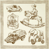 antika toys Arkivfoto