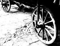 antika vagnhjul arkivbilder