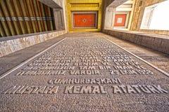 Antikabir, ο τάφος Ataturk, Άγκυρα, Τουρκία Στοκ Εικόνες